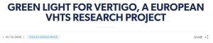 VERTIGO press release is out!